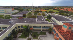 Aerial Miami Dade school Stock Footage