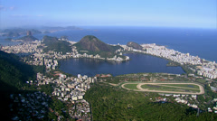 Aerial view of Lagoa, Beaches and Rio de Janeiro, Brazil - stock footage