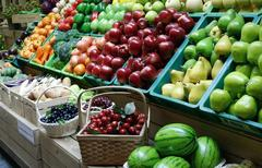 Fruit stall in the market Stock Photos