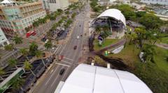 Aerial Music Festival Miami Stock Footage
