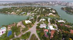 La Gorce approach aerial video Stock Footage
