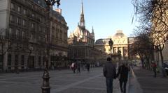 Paris - France - Île de la Cité and Notre Dame - HD Stock Footage