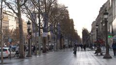 Paris - France - Avenue des Champs-Élysées - HD Stock Footage