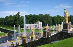 Fountains of Petergof - stock photo