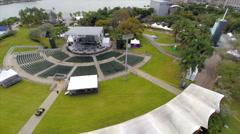 Ultra music fest setup Stock Footage
