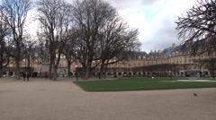 Paris - France - Park - Place des Vosges - HD Stock Footage