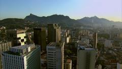 Aerial view of city, Rio de Janeiro, Brazil Stock Footage