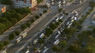 Stock Video Footage of Rio de Janeiro, Brazil - August 23, 2013: Flying over city street with busses
