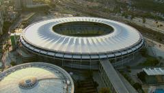 Aerial view of Maracana Stadium, Rio De Janeiro, Brazil Stock Footage
