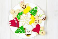 Stock Photo of cookies decorated with a christmas theme