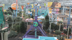 Second floor view of Nickelodeon Universe at Mall of America Stock Footage