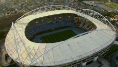 Aerial view of Rio Olympic Stadium, Rio de Janeiro, Brazil Stock Footage