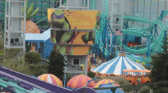 High angle view of nickelodeon universe at mall of america Stock Footage