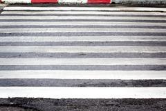 zebra pedestrian crossing - stock photo