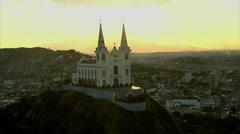 Aerial view of the Igreja da Penha (Penha Church), Rio de Janeiro, Brazil Stock Footage
