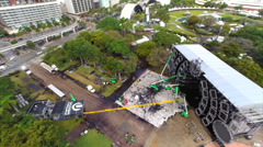 Aerial Ultra Music Festival Stock Footage
