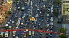 Rio de Janeiro, Brazil - Busy city streets in Rio de Janeiro Stock Footage