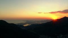 Sunset over Rio de Janeiro, Brazil Stock Footage