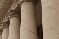 Pillars or columns in a row Stock Photos