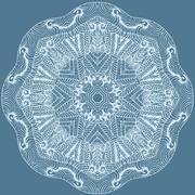 circle floral ornament. - stock illustration