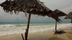 Bad weather during the monsoon season on a tropical island Stock Footage