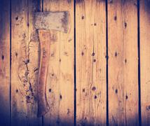 Old axe filtered Stock Photos