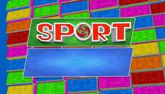 TV sports program 2 Stock Footage
