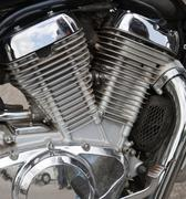 Stock Photo of Motorcycle engine close-up