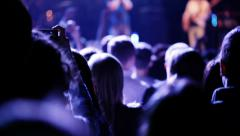 People who look a concert. Stock Footage
