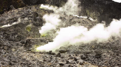 Volcanic Fumaroles on an active volcano Stock Footage