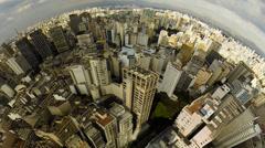 Sao Paulo Brazil skyline video panorama Stock Footage