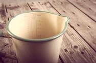 Stock Photo of vintage measuring jug filtered