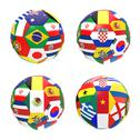 Stock Illustration of 3d render of 4 soccer football representing competition group a on 2014 fifa