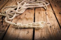 Frayed rope Stock Photos