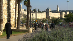 Jeruslaem old city Stock Footage