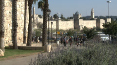 Timelapse Jerusalem old city Stock Footage