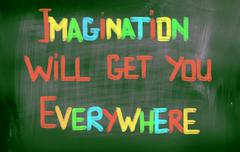 Stock Photo of imagination will get you everywhere concept
