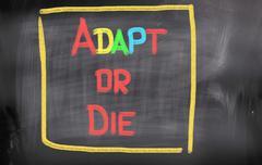 adapt or die concept - stock illustration