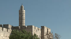 David tower in Jerusalem Stock Footage