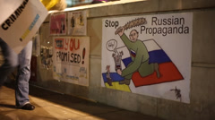 Ukraine Crimea Protest posters  Stock Footage