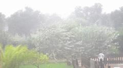 Heavy rain shower Stock Footage