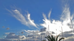 Masts and clouds Stock Footage
