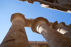 Columns of Karnak Temple at Luxor, Egypt - stock photo