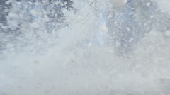 Cracking, Splashing And Exploding Ice in Slow Motion Stock Footage