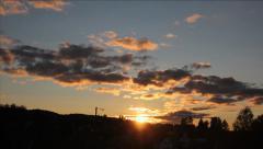 Sun set timelapse Stock Footage