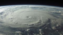 A satellite view of a menacing hurricane in 4K Stock Footage