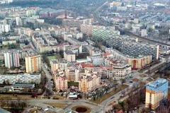 blocks in Wroclaw - view from above - stock photo