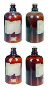 Isolated old, dusty brown bottle Stock Photos