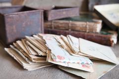 Few vintage letters Stock Photos
