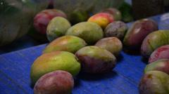 Mangoes fruit linepack industrial Stock Footage